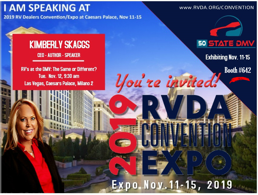 50 State DMV CEO to Educate Dealers at RVDA 2019 EXPO
